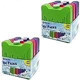 World-Bio 8 Kühlakkus Kühlelemente für Brotdose Kühltasche Klein Kühlakkus Lang anhaltende Erkältung für Schule, Picknick, Ca