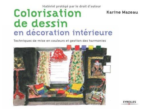 Colorisation de dessins en décoration intérieure. techniquesde mise en couleurs - techniques de mise