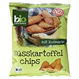Biozentrale Bio Süsskartoffelchips mit Rosmarin, 6er Pack (6 x 75 g)
