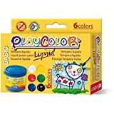 Playcolor Liqüid Basic 40ml - Pintura Tempera - 6 Colores sutidos - 19931