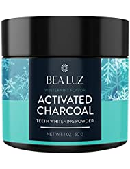 Teeth Whitening Activated Charcoal Powder - From Organic Coconut Shell and Food Grade Formula - All Natural Spearmint Flavor Tooth Whitener