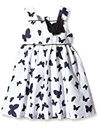 Happy Girls Butterfly Girl's Dress in Navy