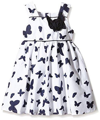 Happy Girls Mädchen Kleid mit Schmetterlingen in marine, All over print, Gr. 122, Mehrfarbig (navy 62)