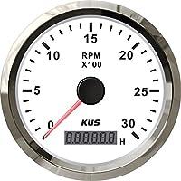 Kus Tacómetro con contador de horas de 0 a 3000rpm para motor diésel 85mm.