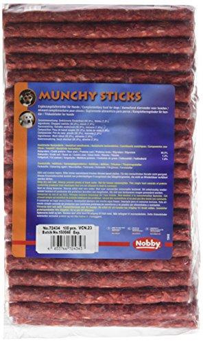 Artikelbild: Munchi Sticks rot, 100er je 13 cm, Ø 9 - 10 mm