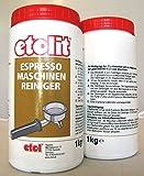Etolit Kaffeefettlöser,Brühgruppen Espressomaschinen Reiniger 1 x 1Kg entfernt Tee + Kaffeeablagerungen, geeignet für alle gängigen Siebträgermaschinen wie ECM,ISOMAC,VIBIEMME,RANCILIO,BEZZERA,ROCKET