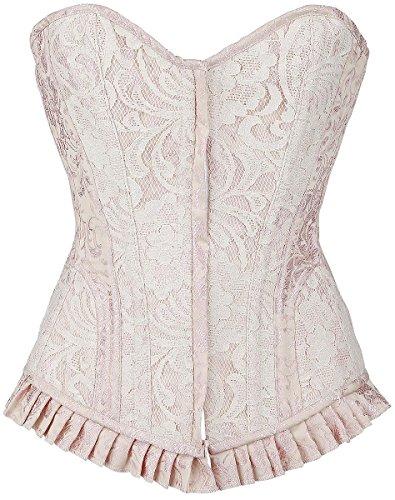 Burleska Petra Overbust Corsetto rosa pallido M