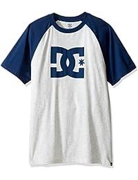 DC Shoes Men's Star Raglan SS T Shirt Light Heather/Varsity Blue (xsbb) M
