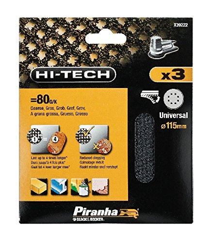 Piranha-XJ X392223mm, 80g, Exzenterschleifer, Netz mit Klettverschluss, 115mm