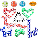 Herefun 10 Piezas de 24 Bloques Magic Snake Cube, Mini Cubos de...