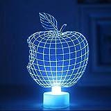 CHRISTMAD Gift 3D Apple Nachtlicht LED Lampe Dekoration Beleuchtung Kinderspielzeug Nachtlicht Kreative Geschenke,Apple-5pcs