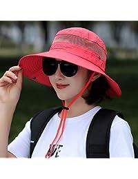 Cappello da Sole da Donna Cappello - Cappello da Pescatore Estivo da Donna  Outdoor Beach Visiera da Sole Moda da Viaggio Protezione… c233af420c16