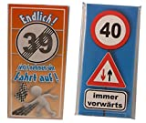 Schokoladen-Set 2 Tafeln zum 40. Geburtstag