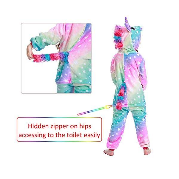 LANTOP - Pijama mono de unicornio para niñas, ideal como regalo de Navidad o Halloween, o como disfraz de cosplay 3