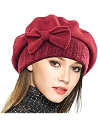 VECRY Donna Berretti 100% Lana Berretto Abito Beanie Invernale Cappello 450da1c7f691