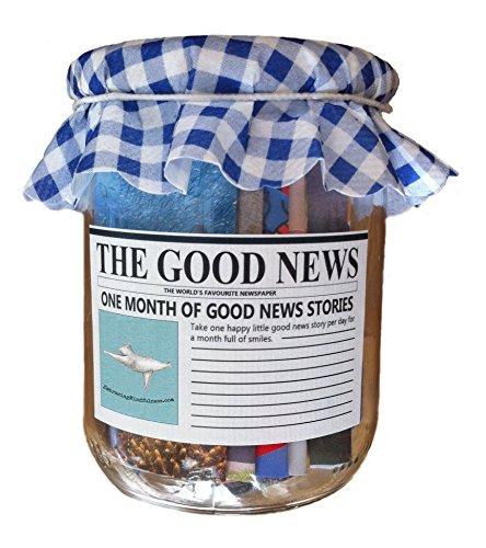 Optimismus, Positives Denken und Achtsamkeit in rustikalem Glas : Die Guten Nachrichten - Ein Monat positiver Nachrichten 31 Stück - Ein ganz besonderes Geschenk