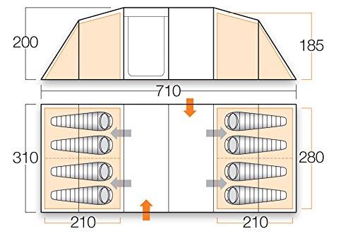 51MQaQio%2BYL - Vango Odyssey Family Tunnel Tent, Epsom Green, 800