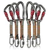Fusion Climb 6-Pack 11cm Juego Quickdraw con 1/4' Acero Inoxidable Quick Link/Techno Wave Borgoña Tornillo Puerta Carabiner