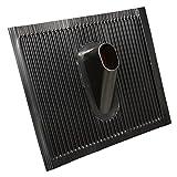 PremiumX Dachabdeckung Alu-Dachziegel Schwarz Dach Montage Abdeckung Ziegel Dachpfanne für Sat Dachsparrenhalter