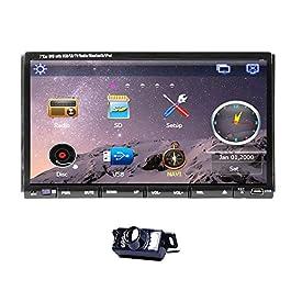7-pollici doppio din in dash LCD screen lettore DVD monitor touch con DVD / CD / MP3 / MP4 / USB / SD / AM / FM / RDS…
