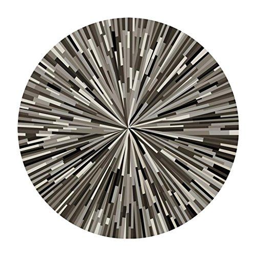 MEHE@ moda personalidad creativo Alfombra geométrica de rayas redondas, dormitorio abstracto creativo sala alfombra antideslizante Felpudos Alfombras ( Color : Diameter 180cm )