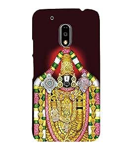 Lord Balaji Venkateshwara 3D Hard Polycarbonate Designer Back Case Cover for Motorola Moto G4