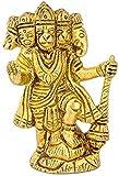 Elegant Brass Lord Panchmukhi Hanuman Statue