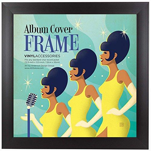 Americanflat - Cornice per esporre copertine di album ed LP di dimensioni 31,75 x 31,75 cm, con gancetto in metallo, non richiede assemblaggi.