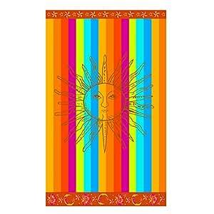 Serviette de plage en coton égyptien Summer Sun - velours - multicolore