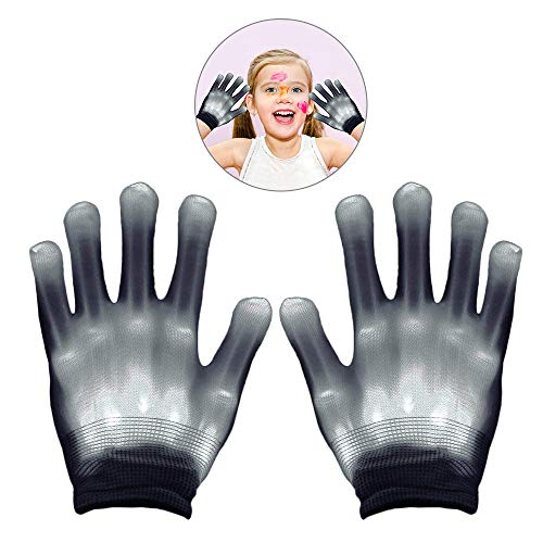 WISHBB Jahre alte Mädchen Geschenke, Geschenke für 5-8 Jahre altes Mädchen, blinkende Handschuhe Geschenke für Teen Girls Geburtstagsgeschenk Jungs (Weiß)