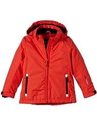 CMP Funktionsjacke Funktionsjacke - Cortavientos para niña, color rojo, talla 8 años (128 cm)