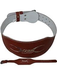 """aqwa 6""""Funda de piel cinturón de levantamiento de peso gimnasio Soporte de la espalda Entrenamiento Cinturones ejercicios de fitness culturismo Marrón marrón"""