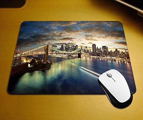 Preisvergleich Produktbild New York City Brooklyn Bridge Mauspad Anti-Rutsch, Wasserfest 220x180 Veredeln Sie Ihren Schreibtisch mit diesem eleganten Mauspad