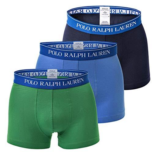 Ralph Lauren Boxer-shorts (Polo Ralph Lauren Herren Boxer Shorts Trunk 3er Pack - Baumwolle, Mehrfarbig (S (Small)))