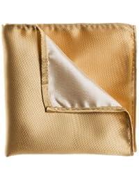 Diseño de cachemira de Londres, Plain bolsillo dorado de estampado a cuadros de, incluye pañuelo de bolsillo