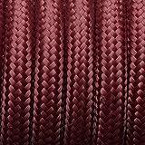 10meters, 2Core 3Core 3Core rotonda intrecciato cavo elettrico filo vintage intrecciato flessibile tessuto filo di altissima qualità _ UK Lighting _ Wire _ cavo, Tessuto, Burgundy, 3Core Round, vintage cable