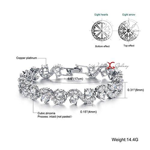 Jewels Galaxy Exclusive Luxuria AAA Swiss Cubic Zirconia Rich Royal Blue Crystal Splendid Bracelet For Women/Girls