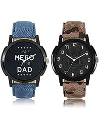 Maan International Lorem Aarmy Stylish 2 Combo Boy's Watch MI-LR03-07 …