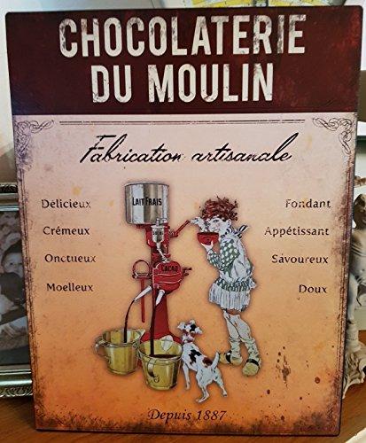 Antic Line Plaque chocolaterie du Moulin 25 * 33cm