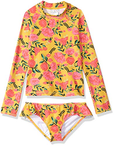 Billabong Girls' Sun Dream Long Sleeve Rashguard Two Piece Swim Set -