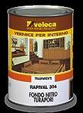 RAPIVAL 304 - Fondo nitro turapori trasparente indicato per il trattamento di verniciatura di base per mobili ed oggetti vari di legno grezzo (per legno nuovo oppure legno vecchio pulito fino al grezzo) LT.1