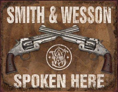smith-and-wesson-spoken-here-blechschild-usa-gross-neu-40x31cm-s2740