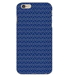 Triangle Wave Pattern 3D Hard Polycarbonate Designer Back Case Cover for Apple iPhone 6