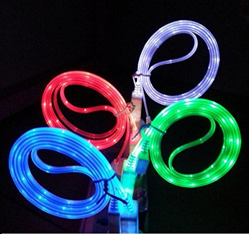 High Quality USB Cable,Data Cable,Charging Cable,Charge Cable For Fast Charging & High Speed Data Transfer,Premium High Quality LED Light Cable,Compatible with Android mobiles, Samsung,Blackberry,Htc,Micromax,Karbonn,One Plus One, Motorola,LG,Sony,Xiaomi,Lenovo,huawei And More :- Random Cable Colors Red,Blue,Black,Gray,Green....A Quality Product By Woogor
