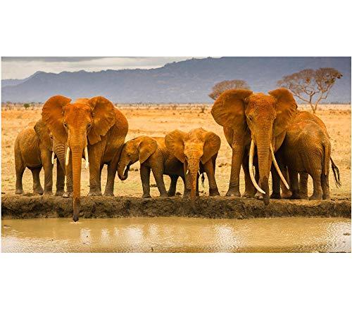 Mucert Eine Gruppe Von Elefanten Trinkt Wasser 1500 Puzzleteile aus Holz Abstrakte DIY Moderne wandkunst Geschenk einzigartige wohnkultur