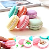 Mini Case Container,TianranRT 6 Pack/ PCS Mini Earphone Necklace Erarring Toys Macarons Bag Storage Box Candy Jewelry Organizer Pill Case Container (6 PCS Colorful)
