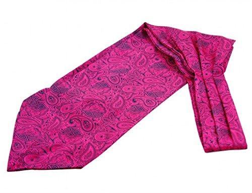 Prettystern - Herren Seide Krawattenschal + Einstecktuch Ascot Set Business - Pink Paisley CV34