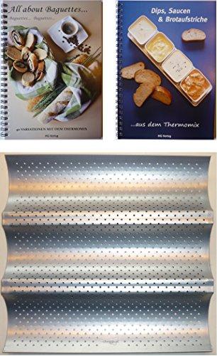 MXL-Set Baguetteblech + 2 Bücher: All about Baguettes+Dips, Saucen & Brotaufstriche aus- mit dem Thermomix TM21 TM31 TM5 ...