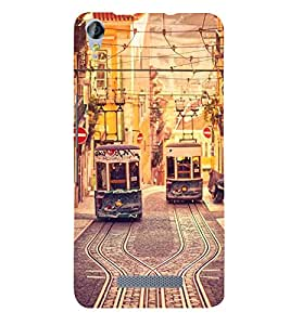 Trams 3D Hard Polycarbonate Designer Back Case Cover for Micromax Canvas Juice 3+ Q394 :: Micromax Canvas Juice 3 Plus Q394