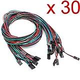 Gaoxing Tech. Femmina 30pcs 70cm 2pin 3pin 4pin al filo femminile del ponticello del cavo di Dupont per Arduino